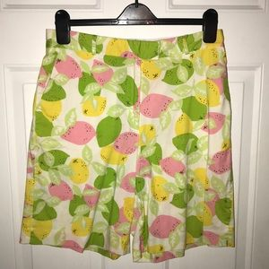 Lilly Pulitzer Bermuda shorts.